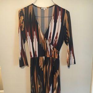 Charlotte Russe wrap dress- 70s vibe